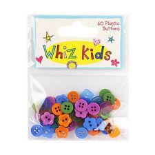 Los botones de plástico Wizz niños para Tarjetas y Manualidades