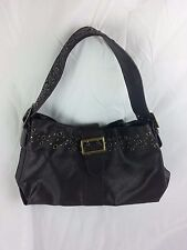 Ann Taylor Loft Black Leather Shoulder Handbag Satchel Bag Purse