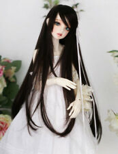 "8-9-10"" 1/3 BJD Black Long Wig LUTS Doll SD DZ DOD MSD Pullip Dollfie Hair"