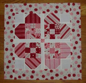 QUILT Top: Nine-Patch Hearts - VALENTINE'S Day