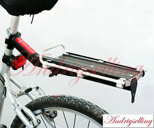 Road Mountain Bike Bicycle Alloy Quick Release Rear Rack Panniers Fender + Cord
