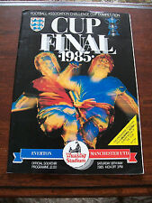 1985 FA Cup final programme & Ticket Everton v Manchester U. superb condition.