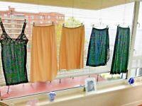 5 Vanity Fair Slips  Bali 4 Medium + 1 L. Half Slip  3 Black + 2 Beige Lace Trim
