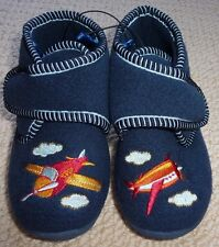 NWT Target Toddler Boys Navy Embroidered Aeroplane Slippers Size 11 or Size 12