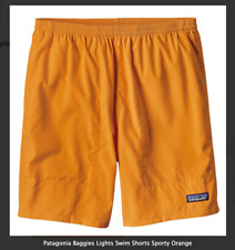 PATAGONIA BAGGIES LIGHTS MENS SHORTS SWIM BEACH SPORTY ORANGE NEW XL
