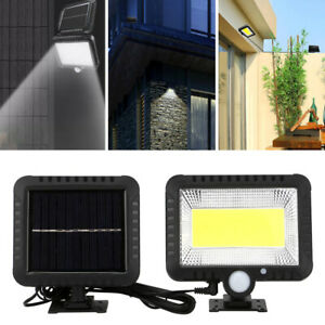 Lampe Solaire Extérieur 100 led PIR éclairage Spot Lumière Sécurité pour Jardin