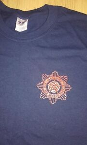 LANCASHIRE FIRE BRIGADE T-SHIRT - all sizes available RED ROSE FIRE FIGHTER