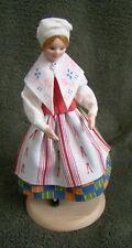 Swedish Varmland Wooden vintage folk costume Varmland girl Doll Dockan Sweden