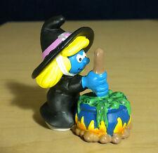 Smurfette Halloween Witch Smurf Vintage Smurfs Figure Peyo PVC Figurine 20547
