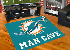 "Miami Dolphins Man Cave 34""x43"" All-Star Area Rug Mat"