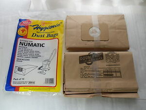 10 x Numatic Charles Edward George Vacuum Cleaner Dust Paper Bags Duo Filtration