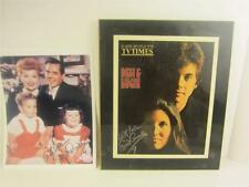 Lucie & Desi Jr Cover Photo TV Times 1970 Wood Plaque, Signed COA, Video Lucille