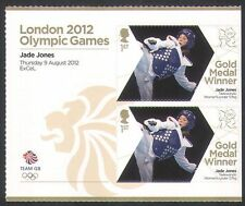 GB 2012 Olimpiadas/Deportes/ganadores de medalla de oro/Taekwondo/Jade Jones 2v + Lbl n35660a