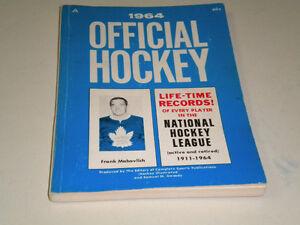 1964 OFFICIAL NATIONAL HOCKEY LEAGUE GUIDE, GORDIE HOWE !!
