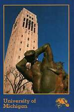 Carl Milles Sculpture Burton Mem. Carillon Tower University of Michigan Postcard