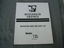 WISCONSIN  ENGINE  VH4 - VH4D  INSTRUCTION, REPAIR & PARTS MANUAL BRAND NEW