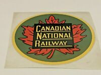 "Canadian National Railway, Beautiful Original Train Sticker, 3"", Maple Leaf"