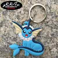 Pokemon Center Vaporeon Silica Keyring Decorative Pendant Toy Keychain Gift