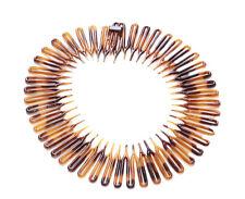 Nostalgic Brown Black Comb Circle Spring / Plastic Head / Hair  Band(Zx255)