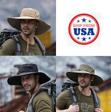 Boonie Brim Hat Fishing Hiking Hunting Military Bucket Safari Cap Summer Unisex