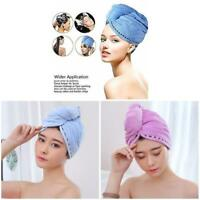 2Pcs Women Hair Dry Towel Microfiber Wrapped Bath Cap Quick Drying Shower Towel