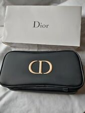 Dior cosmetic makeup pouch/bag. Zipped Brush holder and makeup pockets.