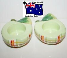 YANKEE CANDLE Tealight HOLDERS * SET OF 2 * GRANNY SMITH APPLE