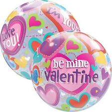 Party Supplies Love Valentines Day Be Mine Hearts Bubble Balloon