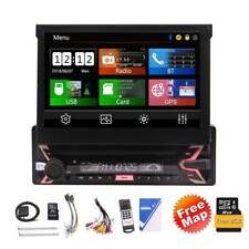 7 Inch Radio Single Din Car Stereo Bluetooth Touchscreen GPS Navigation USB RDS