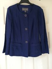 BNWT Stunning LAURA ASHLEY Cobalt Blue Pure Linen Jacket Blazer Coat 6 8 £65