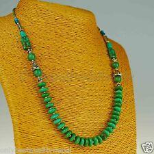 Halskette Collier Türkis Kette mit tibetischem Türkis Perlen Nepal 156e