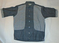 VINTAGE 1960s UNUSED MEN'S SHIRT-JAC BY NORRIS! LOOP COLLAR! SHORT SLEEVE! NOS S