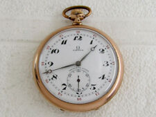 OMEGA Antique Swiss Gold Plated Pocket Watch for REPAIRING