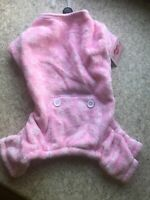 SMOOCHIE POOCH Pink Velour PAJAMAS/JUMPSUIT Dog/Puppy SMALL