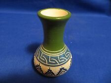 Southwest Hand Etched NAVAJO INDIAN POTTERY POT Vase BY Aaron Davis SIGNED