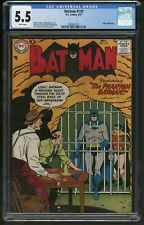 Batman 110 DC Comics CGC FN Minus Unusual white pages SCARCE year for the title