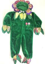 Flower Halloween Costume Girls Size 4 to 6 Green Playful Plush Petals Outfit