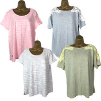 4x Next Ladies T-Shirts Size 16 Short Sleeves Striped Crew Neck Bundle