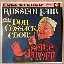 "Russian Fair LP Don Cossack Choir Serge Jaroff Vinyl Record Album 12"" 33"