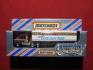 1983 Matchbox Convoy Edwin Shirley Trucking Scania Box Truck Sealink Trailer MIB