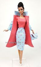 Blue Pink Dress Outfit Gown Coat Fits Vintage Repro Silkstone Fashion Royalty FR