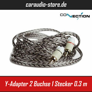 Audison Connection First FTF - Y-Adapter - 2 Buchse - 1 Stecker - 0.3 m