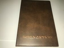 A BROWN/copper --FIREARMS CERTIFICATE / LICENCE HOLDER/WALLET - SGC/FAC