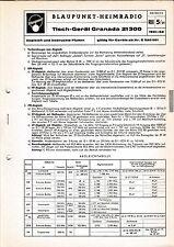 Service Manual-Anleitung für Blaupunkt Granada 21300