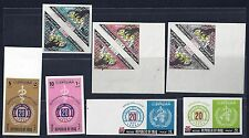 IRAQ 1965 WORLD HEALTH SG 680 681 IMPERF PAIRS +SG 810 813 IMPERF SET LIGHT HING