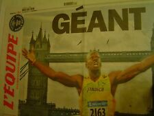"L'EQUIPE du 26/07/2012 / ""GÉANT"" USAIN BOLT & TEDDY RINER + POSTER"