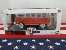 CASTLINE~1960 VW MICROBUS DELUXE~USA MODEL~ORANGE~R45~DIECAST~1:24TH