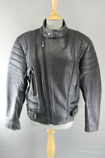 CLASSIC BLACK LEATHER JTS BIKER JACKET 38 INCH