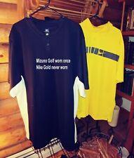 Nike Dri-Fit Golf Polo Yellow Dry Fit Polo Shirt Mens Size Xxl
