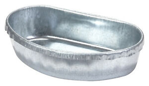 Coop Cup Metal Feed Bowl For Poultry & Rabbit Cage Mount Large Quart Size ACU5